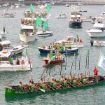 Day of rowing in Hondarribia. Estropada Eguna.