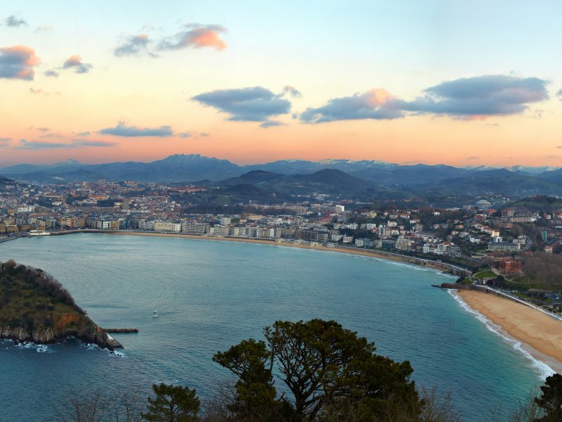 La Concha Bay, View from Mount Igeldo, Donostia, San Sebastian, Gipuzkoa, Basque Country, Spain
